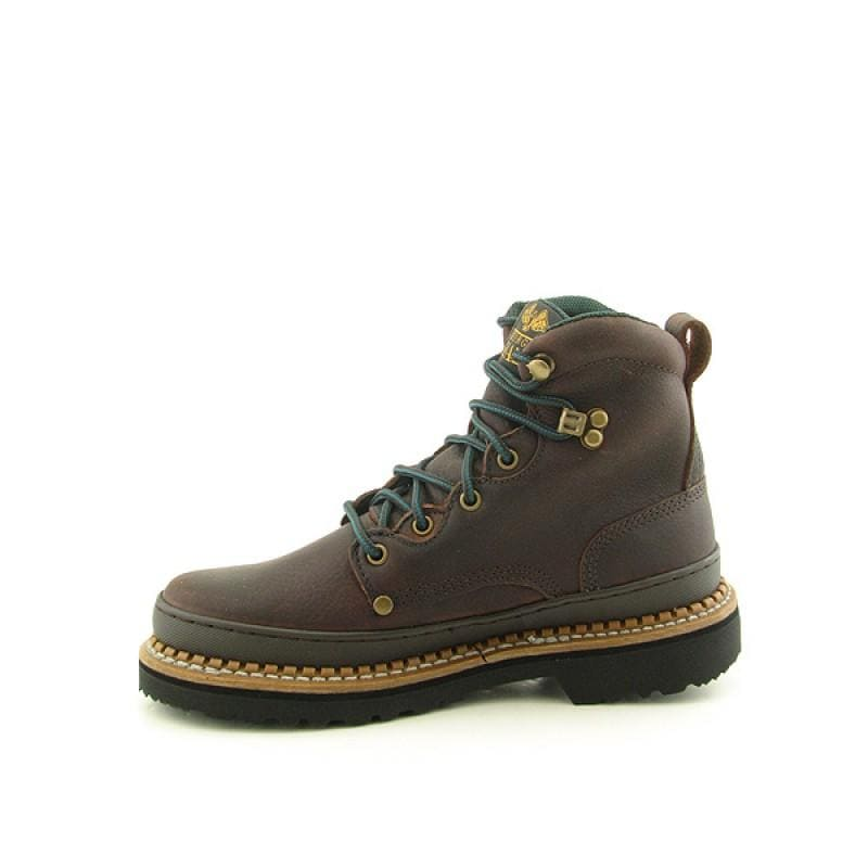 """GEORGIA Men's 6274 6"""" Giant Brown Boots - Thumbnail 1"""