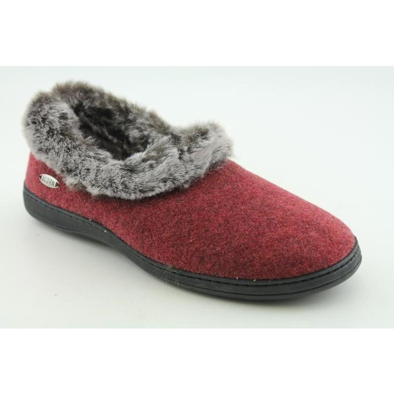 Acorn Women's Chinchilla Collar Red Casual Shoes (Size 6.5)