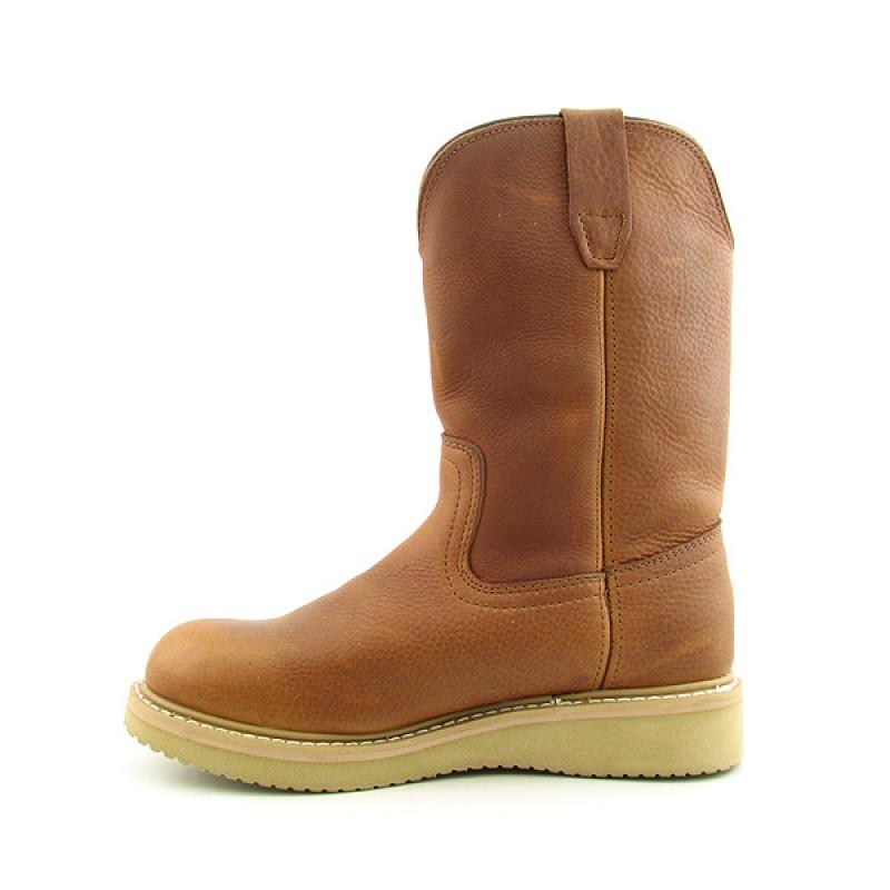 GEORGIA Men's Wellington Wedge Brown Boots (Size 7) - Thumbnail 1