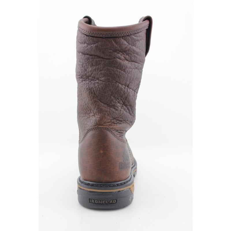 "Rocky Work 's 5685 IronCLad 10"" Pull-On Browns Boots - Thumbnail 2"