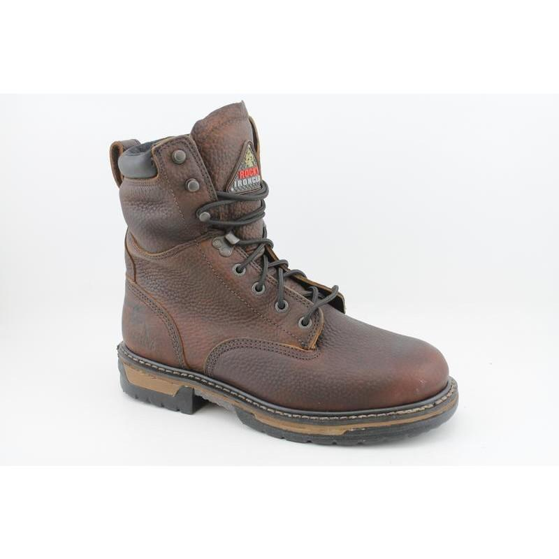 """Rocky Work Men's 5693 IronClad 8"""" Browns Boots"""