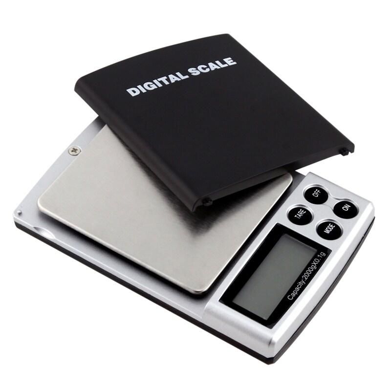 4-pound Black Digital Pocket Scale