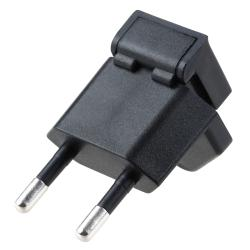 Black US to EU Plug Travel Charger Adapter