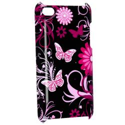 Purple Flower With Butterfly Case for Apple iPod Touch 4th Generation - Thumbnail 2