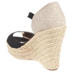Riverberry Women's 'Leanne' Black Wedge Sandals