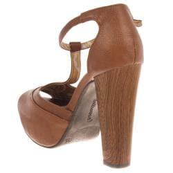 Riverberry Women's 'Curia' Tan Platform Heels