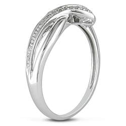 10k White Gold 1/10ct TDW Diamond Ring (H-I, I2-I3)