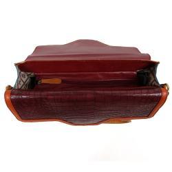 Nicole Lee Women's Haddie Faux Croc 16-inch Briefcase - Thumbnail 1