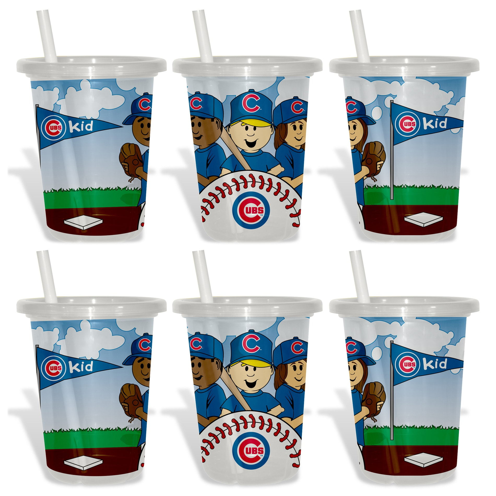 Chicago Cubs Sip and Go Cups (Pack of 6)
