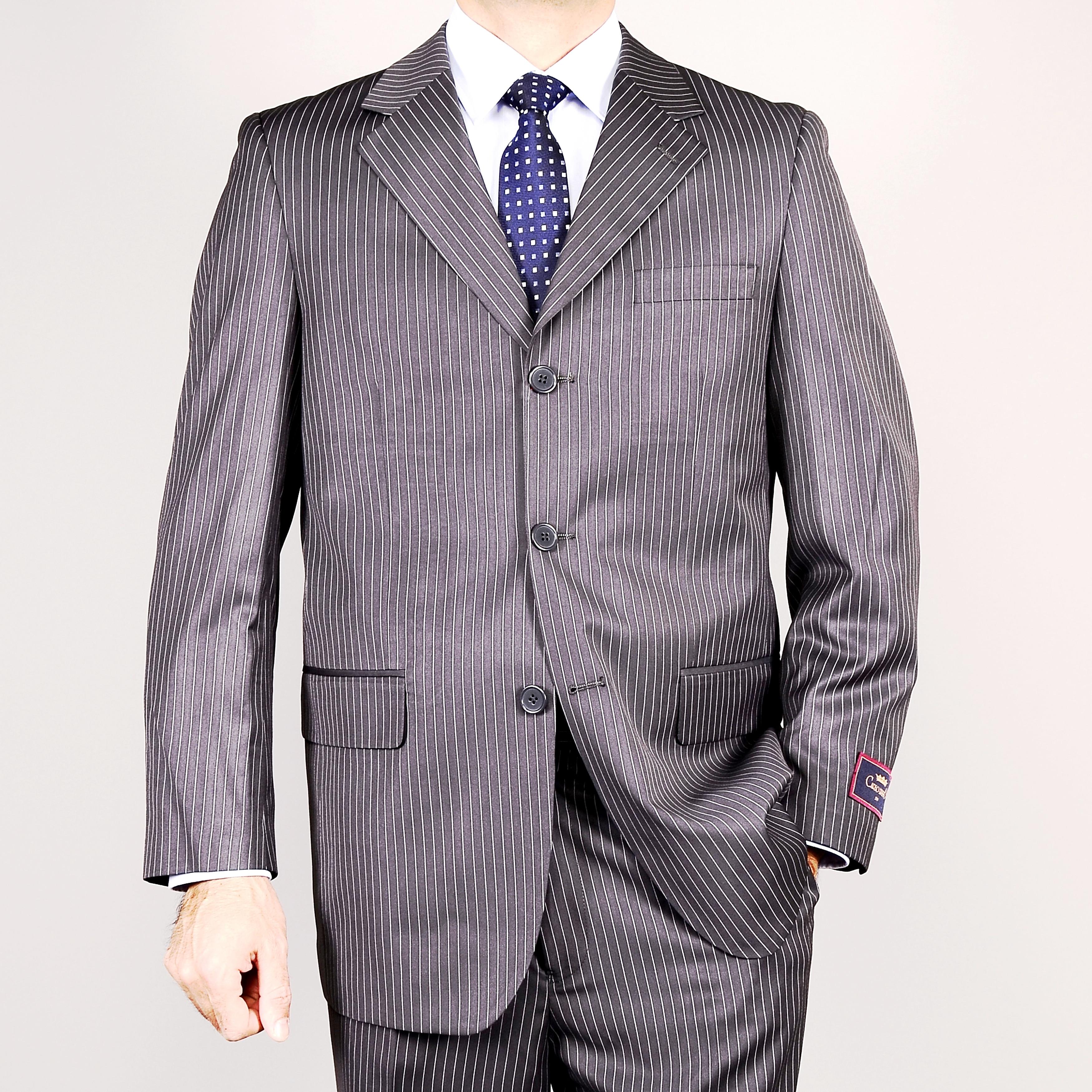 Gray Stripe 3-Button Suit