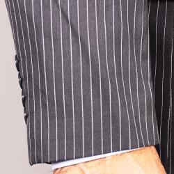 Gray Stripe 3-Button Suit - Thumbnail 1