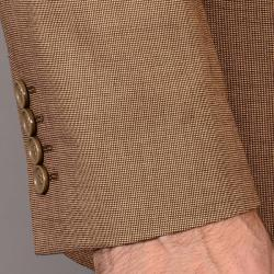 Men's Light Rust Teakweave Wool/Silk Suit