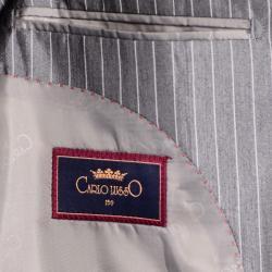 Shiny Gray Stripe 3-Button Suit