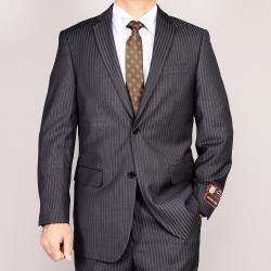 Men's Grey Striped Suit