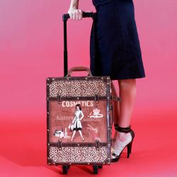 Nicole Lee Abilene Vintage 19-inch Rolling Carry On Upright Suitcase - Thumbnail 2