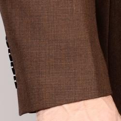 Men's Brown 2-Button Wool Sport Coat - Thumbnail 1