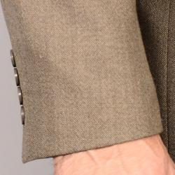 Men's Olive 2-Button Wool Sport Coat
