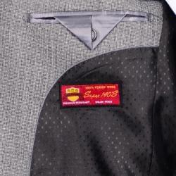Men's Grey 2-Button Wool Sport Coat - Thumbnail 2