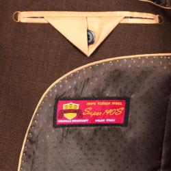 Men's Brown 2-Button Wool Sport Coat - Thumbnail 2