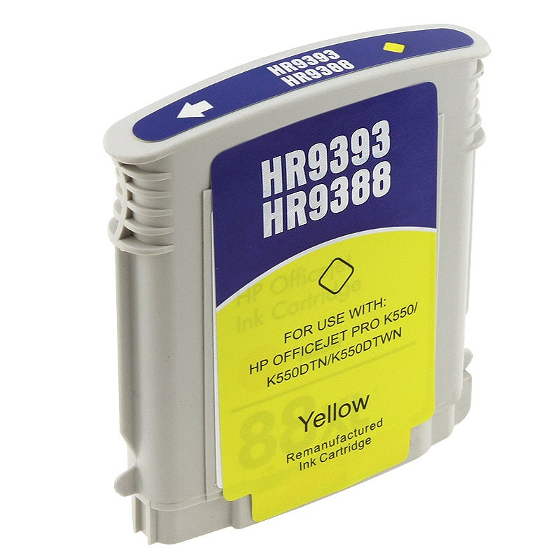 HP 88XL/ C9393AN/ C9388AN Yellow Ink Cartridge (Remanufactured) - Thumbnail 0