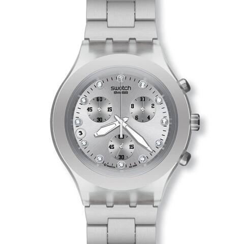 Swatch Men's Diaphane Blooded Silver Watch