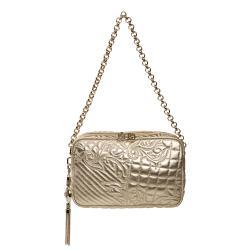 Versace 'Vanitas' Embroidered Gold Leather Shoulder Bag