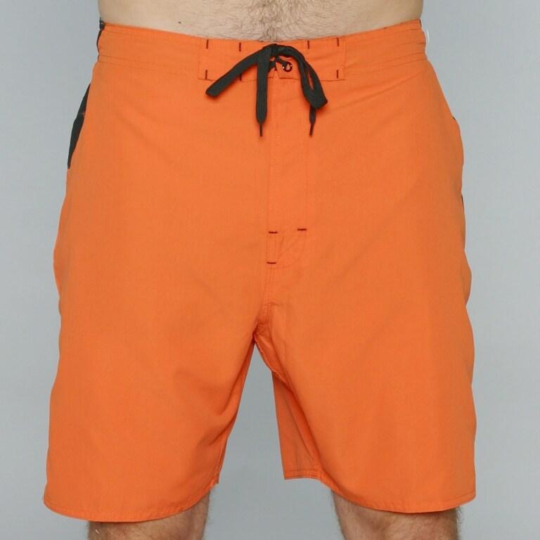 Zonal Men's 'Borg E-Board' Orange Color-block Swim Shorts