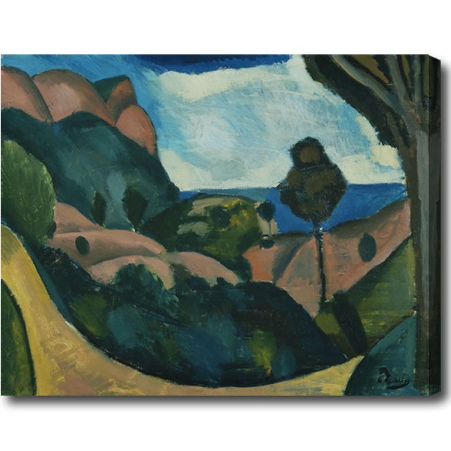 Andre Derain 'Poplars' Abstract Hand-painted Oil on Canvas