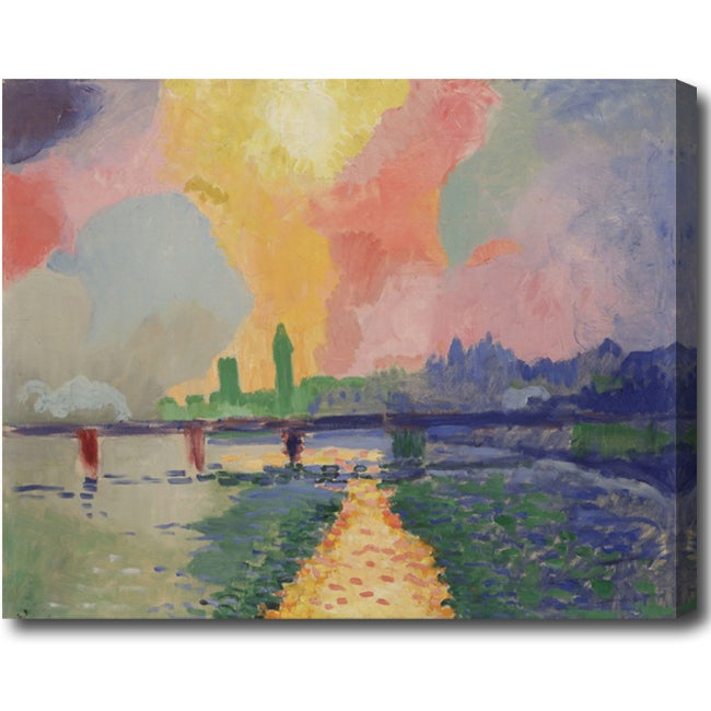 Andre Derain 'Charing Cross Bridge' Abstract Hand-painted Oil on Canvas