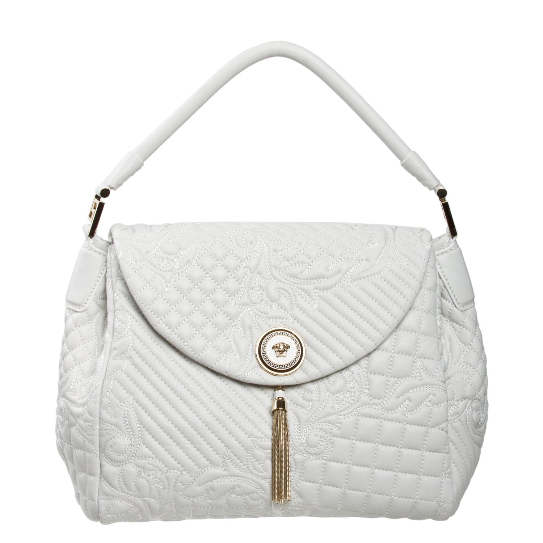 Versace White Leather Satchel