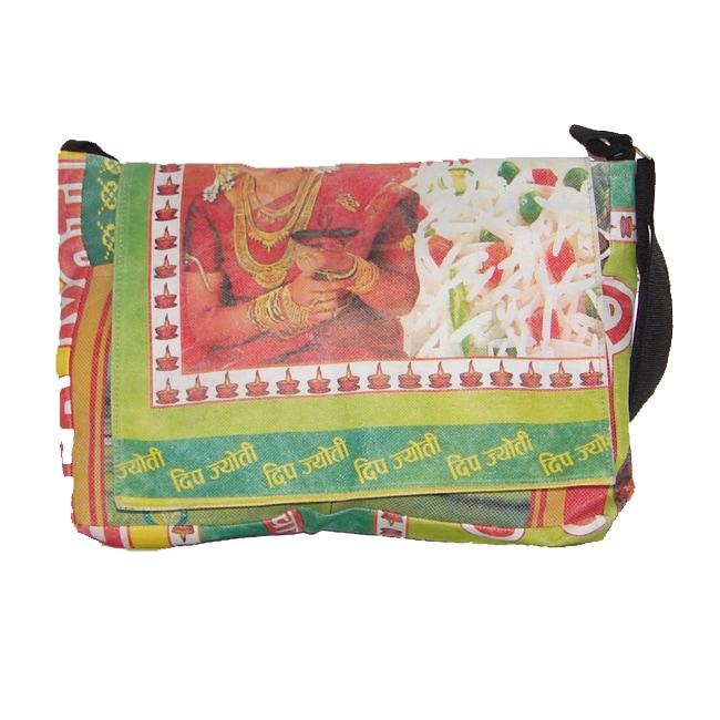 Recycled Plastic Shoulder Bag (Nepal)