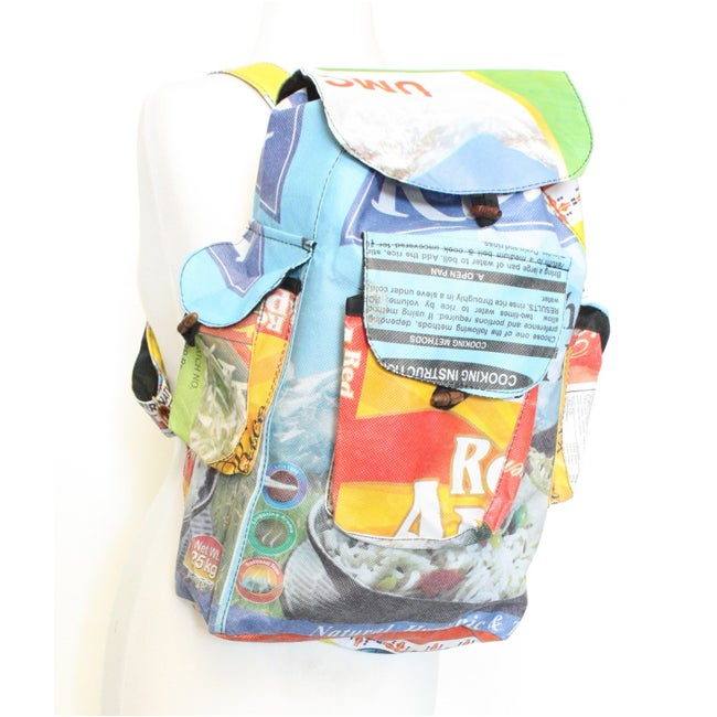 Recycled Rice Bag Back Pack (Nepal)
