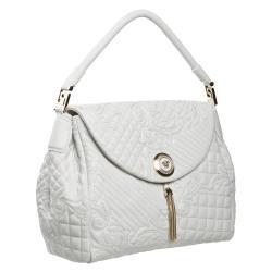 Versace White Leather Satchel - Thumbnail 1