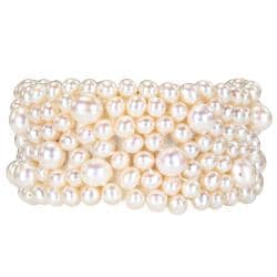 Miadora Pearl Elastic Bangle (5.5-8 mm) - Thumbnail 1