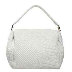 Versace White Leather Satchel - Thumbnail 2