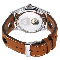 Frederique Constant Men's 'Healey' Silver Dial Tan Leather Strap Watch - Thumbnail 1