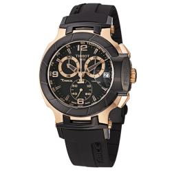 Tissot Men's 'T Race' Black Dial Black Rubber Strap Quartz Watch