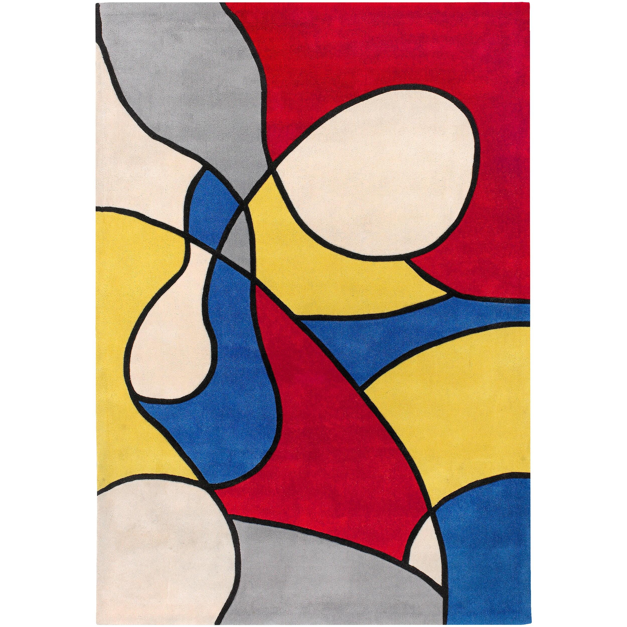Hand-tufted Multicolored Barnyard Rug (5'3 x 7'6)