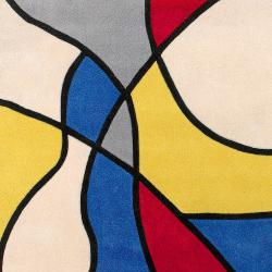 Hand-tufted Multicolored Barnyard Rug (5'3 x 7'6) - Thumbnail 1