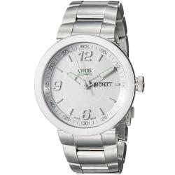 Oris Men's 'TT1' White Dial Stainless Steel Automatic Watch