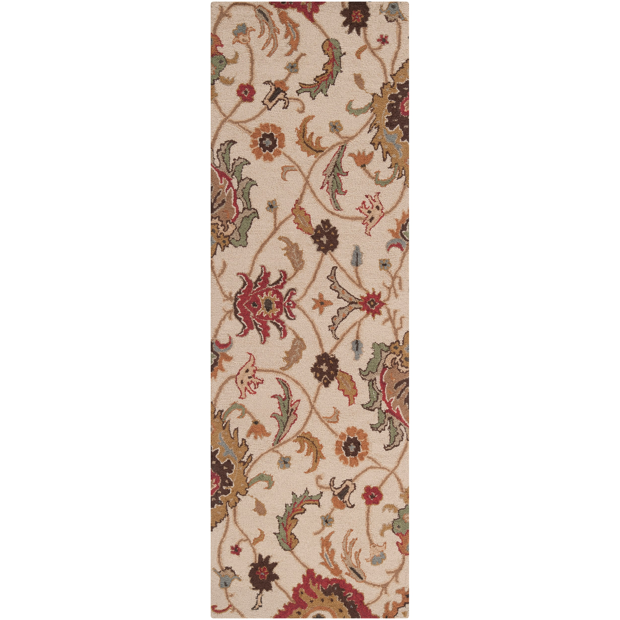 Hand-tufted Tan Canton Wool Rug (2'6 x 8')