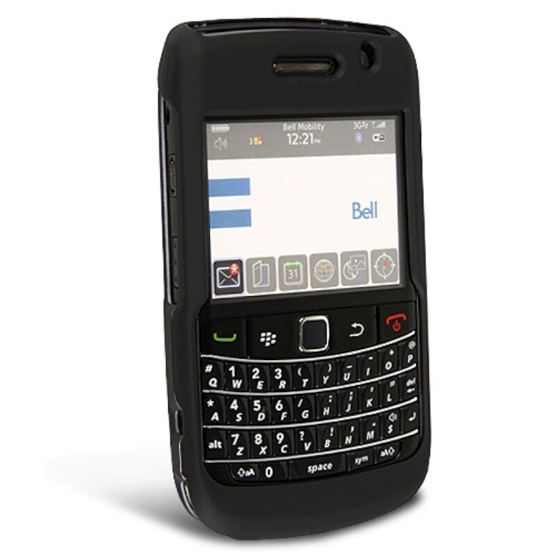 BasAcc Black Snap-on Rubber Coated Case for Blackberry Bold 9700