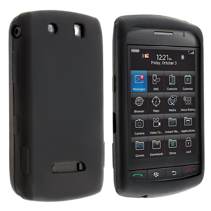 BasAcc Black Silicone Skin Case for BlackBerry Storm 9500/ 9530