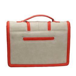 Danielle Nicole Mia Shoulder Bag in Grey and Tomato Ostrich