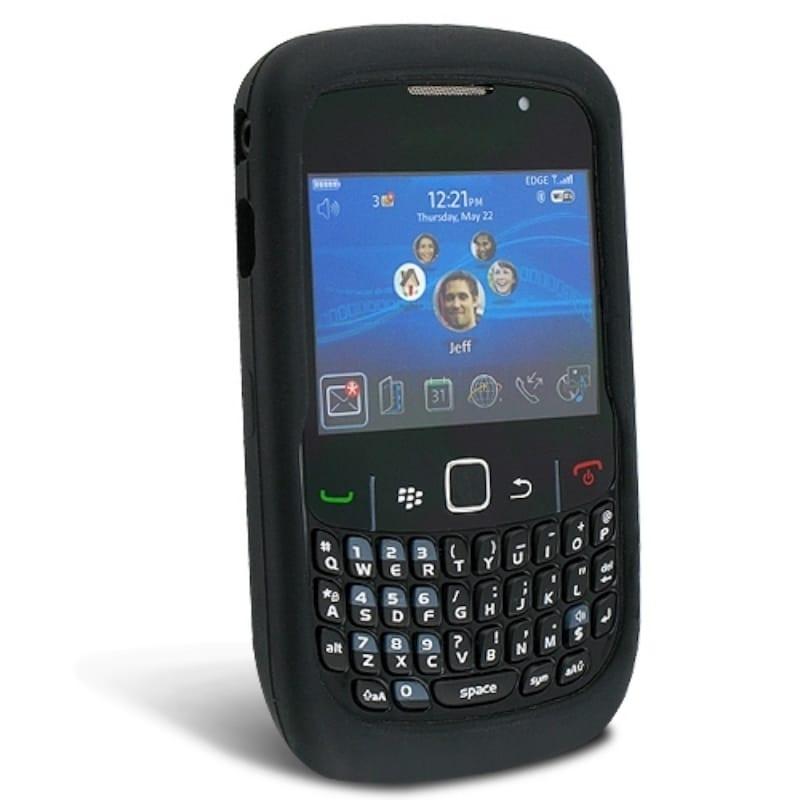 BasAcc Black Silicone Skin Case for Blackberry Curve 8520/ 8530