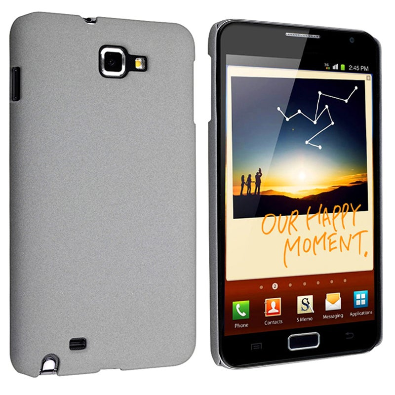 Grey Matte Snap-on Case for Samsung Galaxy Note N7000