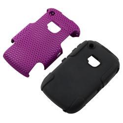 BasAcc Black/ Purple Hybrid Case for BlackBerry Curve 8520/ 9300