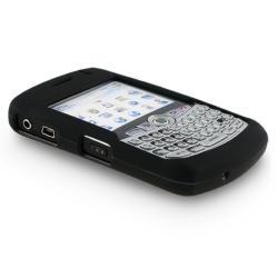 BasAcc Black Rubber Coated Case for Blackberry Curve 8300/ 8310/ 8320