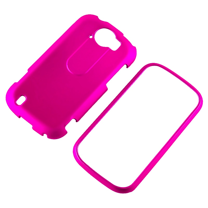 Hot Pink Snap-on Rubber Coated Case for HTC myTouch 4G Slide