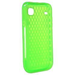 Clear Green Diamond TPU Rubber Skin Case for Samsung Galaxy S i9000